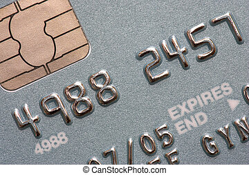 credit card - Macro shot of chip and pin credit card