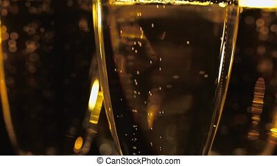 Macro shot of Golden Champagne - pure luxury