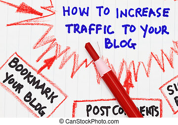 How to increase traffic to your website - Macro shot of How ...