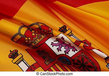 Macro shot of Spanish flag