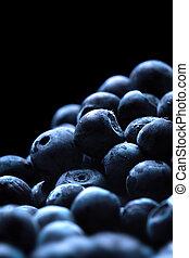 fresh blueberry - Macro shot of wet fresh blueberry
