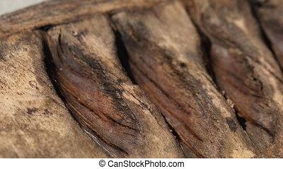Macro shot of wood texture