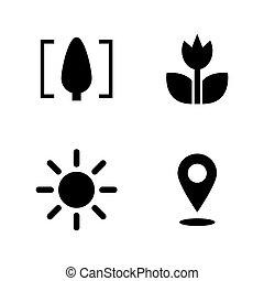 Macro. Simple Related Vector Icons Set for Video, Mobile...
