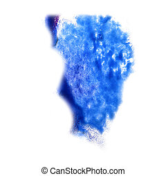 macro spot blue, lilac blotch texture isolated on white ...