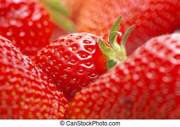 macro, strawberry.