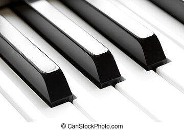 macro, teclado piano