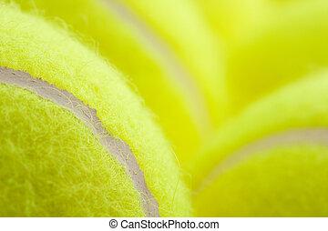 macro, tennis, groep, gelul