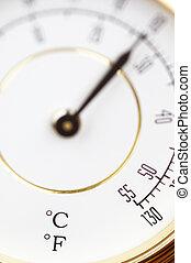 macro, termómetro