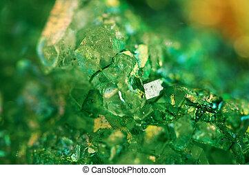 macro., texture, fond, vert, cristaux, agate.
