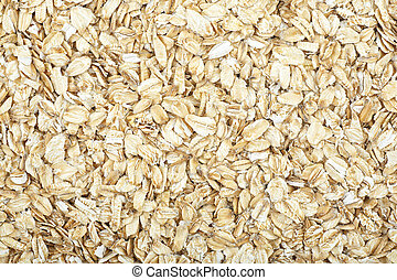 Macro texture of fresh oat flakes. Healthy eating.