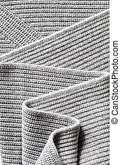 macro texture of knitted cotton fabric