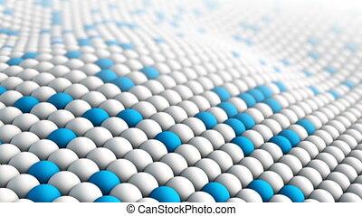 Macro texture waving. Seamless loop 3D render animation