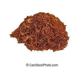 Macro Tobacco on white background