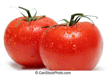 macro, tomates