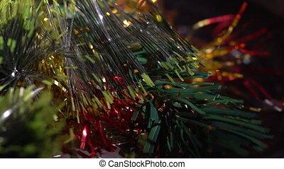 Macro view of plastic ornament