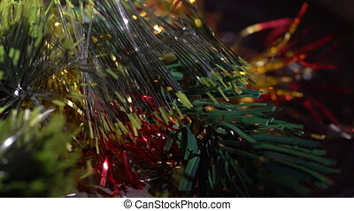 Macro view of plastic ornament