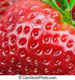 Macro view of strawberry