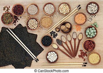 Macrobiotic Diet Food - Macrobiotic diet health food concept...