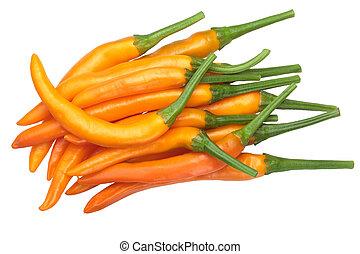 Macskanarancas peppers, paths, top