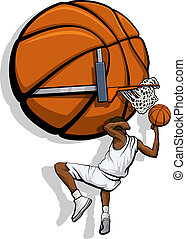 maczać, kolor, koszykówka