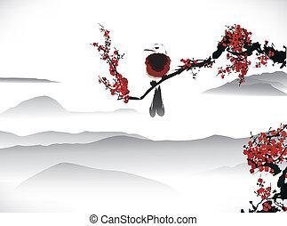 madár, festmény