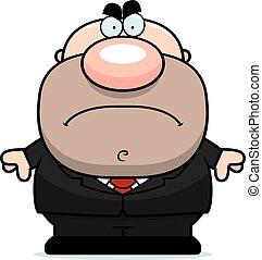 Mad Cartoon Businessman