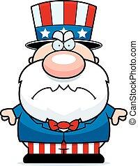 Mad Cartoon Patriot - A cartoon illustration of a patriotic...