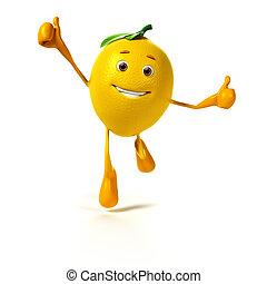 mad, citron, -, karakter