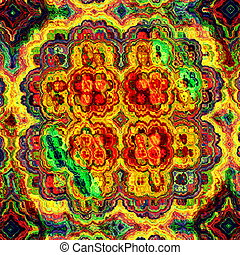 Mad colorful fractal.