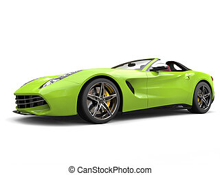 Mad green awesome sports car - studio shot