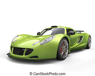 Mad green supercar