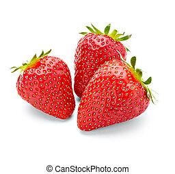 mad, jordbær, frugt
