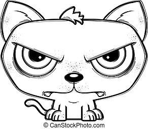 Mad Little Cartoon Cat