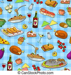 mad, mønster