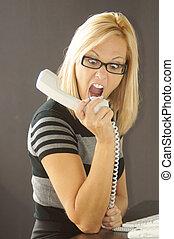 Mad receptionist