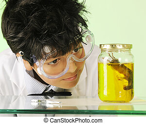Mad Scientist with Specimen