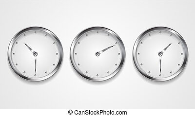 Mad wall clocks concept video animation