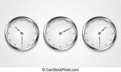 Mad wall clocks concept video animation - Mad wall clocks...