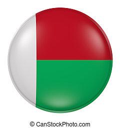 Madagascar button on white background