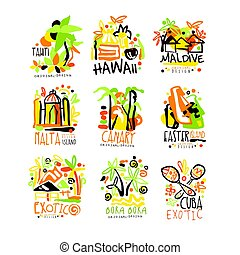 Madagascar, Crete, Bali, Seychelles, Ibiza, Jamaica resort...