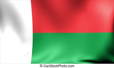 Madagascar Flag. Background Seamless Looping Animation.