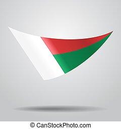 Madagascar flag background. Vector illustration. -...