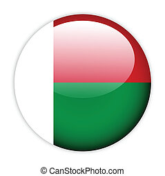 Madagascar flag button