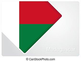 Madagascar flag design background. Vector illustration. -...