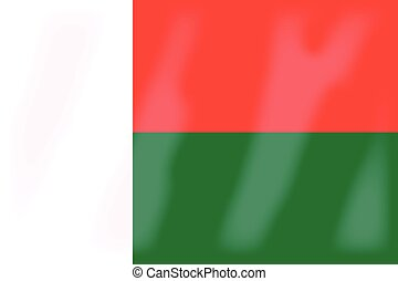 Madagascar Flag - The flag of the African country of...
