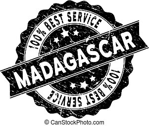 Madagascar Island Best Service Stamp with Dust Style