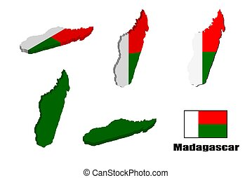 Madagascar map on white background. vector illustration.