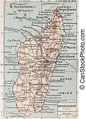 Madagascar old map. By Paul Vidal de Lablache, Atlas...