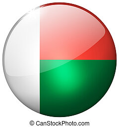 Madagascar Round Glass Button