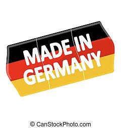 """""""made, ár, germany"""", címke"""